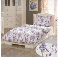 Francúzske predĺžené bavlnené obliečky PROVENCE COLLECTION 240x220, 70x90cm Levanduľa fialová