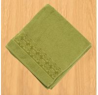 Froté osuška bordúra 70x140cm olivová