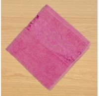 Froté osuška bordúra 70x140cm ružová