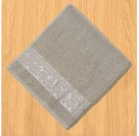 Froté osuška bordúra 70x140cm sivá