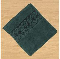 Froté osuška bordúra 70x140cm tmavo zelená