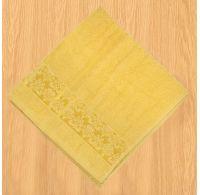 Froté osuška bordúra 70x140cm žltá