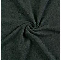 Froté plachta jednolôžko 100x200cm čierná
