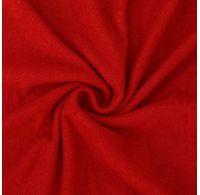 Froté plachta jednolôžko 100x200cm červená