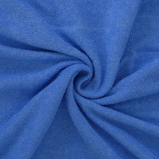Froté plachta jednolôžko 100x200cm modrá