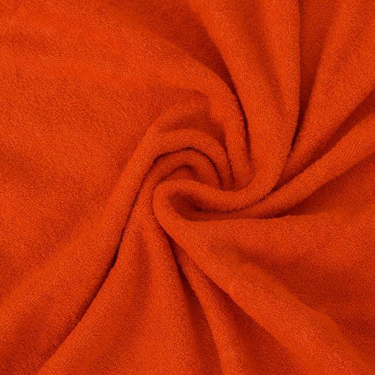 Froté plachta jednolôžko 100x200cm oranžová