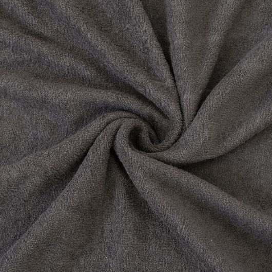 Froté plachta jednolôžko 100x200cm tmavo sivá