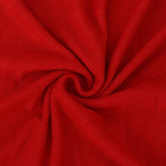 Froté plachta jednolôžko 120x200cm červená
