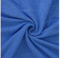 Froté plachta jednolôžko 120x200cm modrá