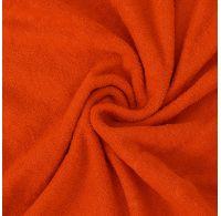 Froté plachta jednolôžko 120x200cm oranžová