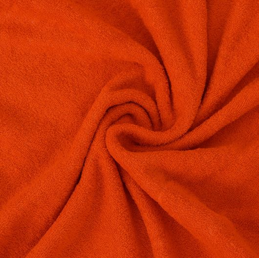 Froté plachta dvojlôžko 160x200cm oranžová
