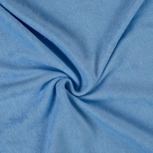 Froté plachta dvojlôžko 160x200cm svetlo modrá