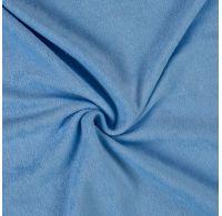 Froté plachta jednolôžko 80x200cm svetlo modrá