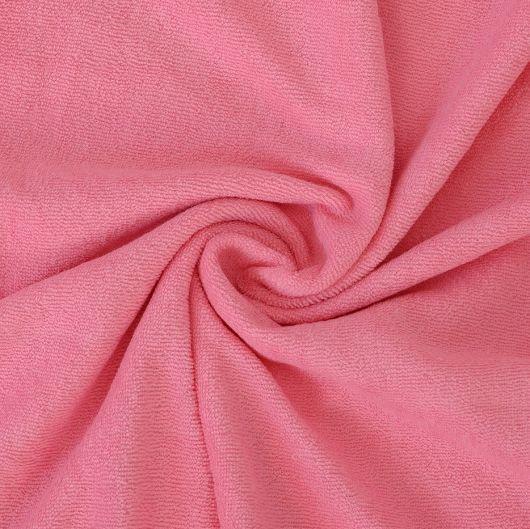 Froté plachta detská 60x120cm svetlo ružová
