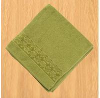Froté uterák 50x100cm bordúra olivový