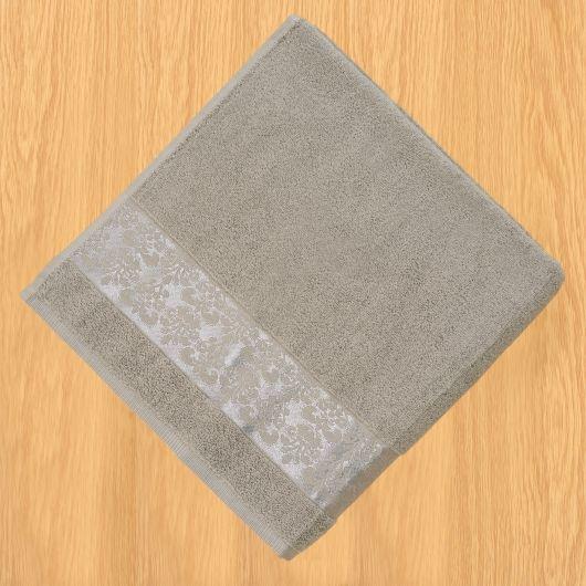 Froté uterák 50x100cm bordúra sivý