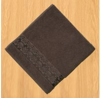 Froté uterák 50x100cm bordúra tmavo hnedý