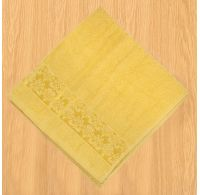 Froté uterák 50x100cm bordúra žltý