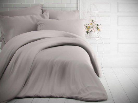 Jednofarebné bavlnené obliečky 140x200, 70x90cm svetlo sivé