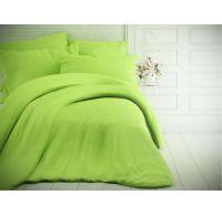 Jednofarebné bavlnené obliečky 140x200, 70x90cm svetlo zelené