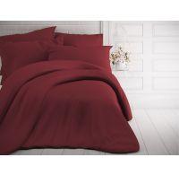 Jednofarebné bavlnené obliečky 140x200, 70x90cm bordó