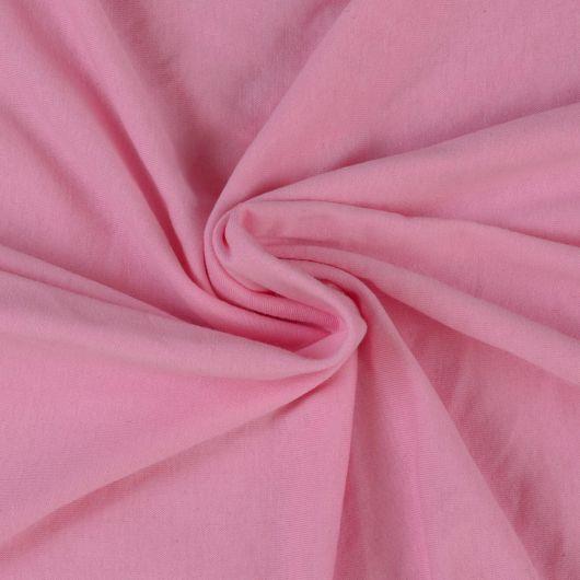 Jersey plachta dvojlôžko 160x200cm svetlo ružová