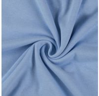 Jersey plachta jednolôžko 120x200cm svetlo modrá
