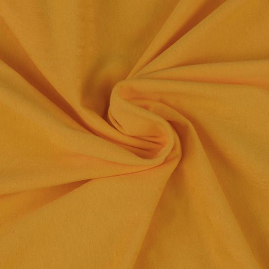 Jersey plachta jednolôžko 120x200cm sýto žltá
