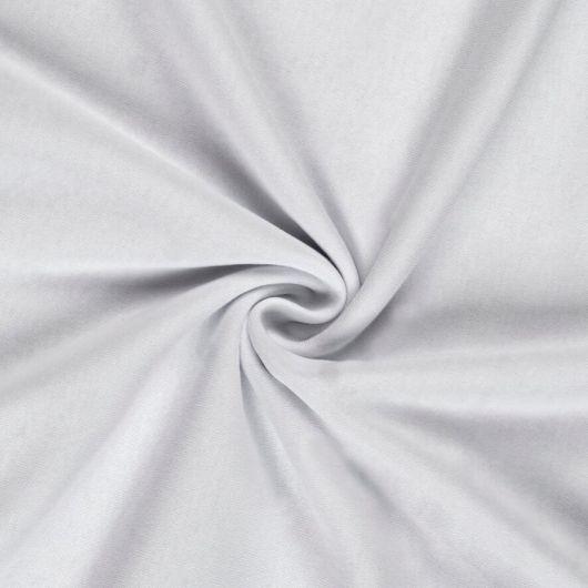Jersey plachta jednolôžko 80x200cm biela