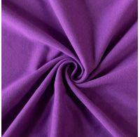 Jersey plachta jednolôžko 80x200cm tmavo fialová