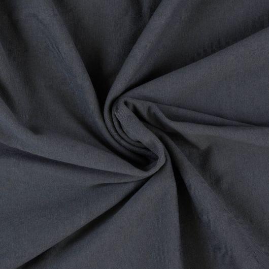 Jersey plachta jednolôžko 80x200cm tmavo sivá