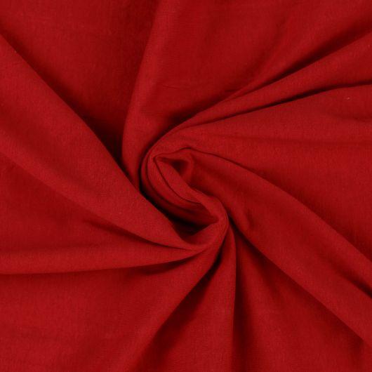 Jersey plachta jednolôžko 90x200cm červená