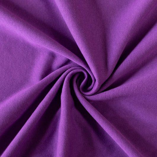 Jersey plachta jednolôžko 90x200cm tmavo fialová