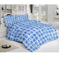 Klasické krepové obliečky SQUARES modré 140x200, 70x90cm