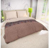 Klasické posteľné bavlnené obliečky 140x200, 70x90cm COFFEE béžové
