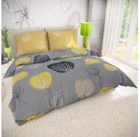 Klasické posteľné bavlnené obliečky GRACE sivá 140x200, 70x90cm