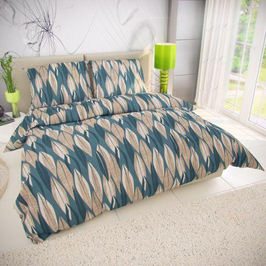 Klasické posteľné bavlnené obliečky 140x200, 70x90cm KIARA zelená