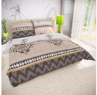 Klasické posteľné bavlnené obliečky 140x200, 70x90cm MENDIS béžové