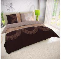 Klasické posteľné bavlnené obliečky 140x200, 70x90cm MOCHACCINO hnedé