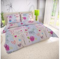 Klasické posteľné bavlnené obliečky 140x200, 70x90cm MON AMOUR