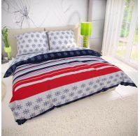 Klasické posteľné bavlnené obliečky 140x200, 70x90cm NAVY
