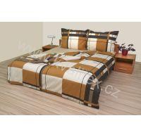 Klasické posteľné bavlnené obliečky 140x200, 70x90cm Obrazec hnedý