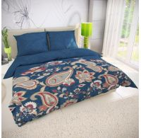 Klasické posteľné bavlnené obliečky OLYMPIA petrolejová 140x200, 70x90cm