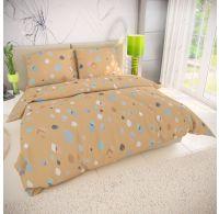 Klasické posteľné bavlnené obliečky 140x200, 70x90cm SERENA žltá