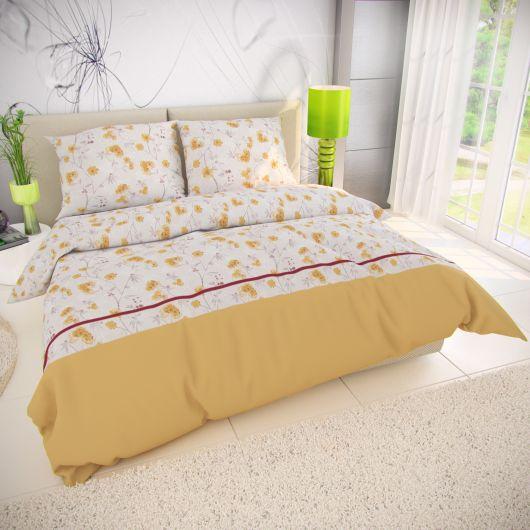 Klasické posteľné bavlnené obliečky 140x200, 70x90cm SUNNY