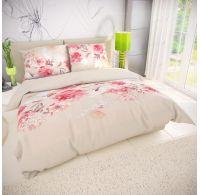 Klasické posteľné bavlnené obliečky TANEA ružová 140x200, 70x90cm