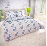 Klasické posteľné bavlnené obliečky ALEXA svetlo sivá 140x200, 70x90cm