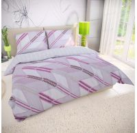 Posteľné bavlnené obliečky DELUX AZUR fialové 140x200, 70x90cm