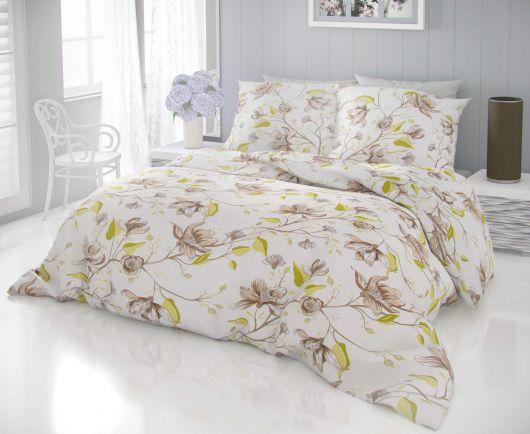Klasické posteľné bavlnené obliečky DELUX KAMILA zelená 140x200, 70x90cm