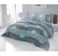 Klasické posteľné bavlnené obliečky DELUX NAPOLY sivé 140x200, 70x90cm